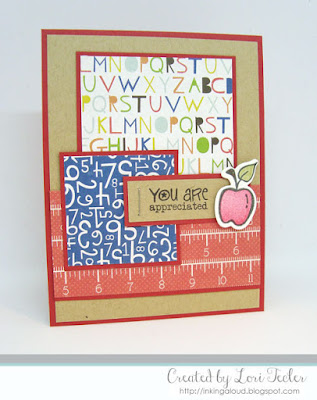 You Are Appreciated card-designed by Lori Tecler/Inking Aloud-stamps and dies from Verve Stamps
