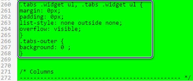 Açılır menü çubuğunun açılır olması için ekleyeceğimiz Css Yama kodları :