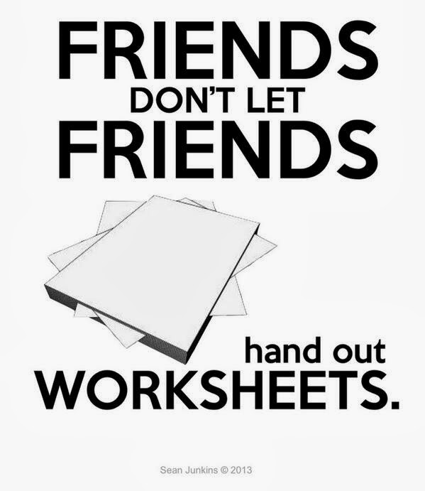 iTeach and iLearn: One. More. Worksheet.