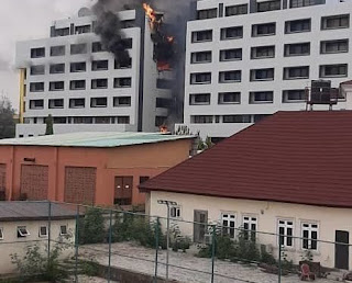 Tension: Accountant general Office in Abuja on Fire ( Photos)