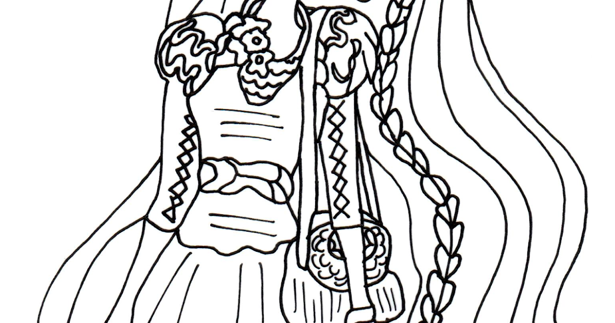 Free Printable Ever After High Coloring Pages: Holly O