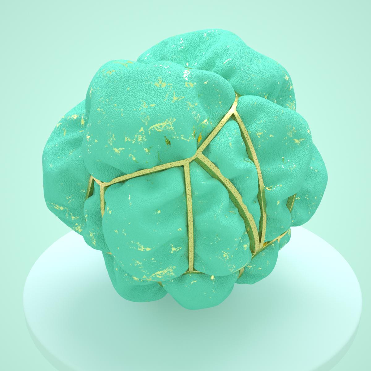 MGB 抽象布料球體