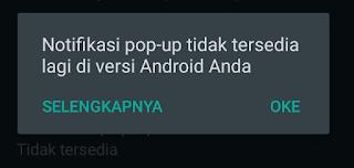 Pop-up pada notifikasi Whatsapp tidak muncul