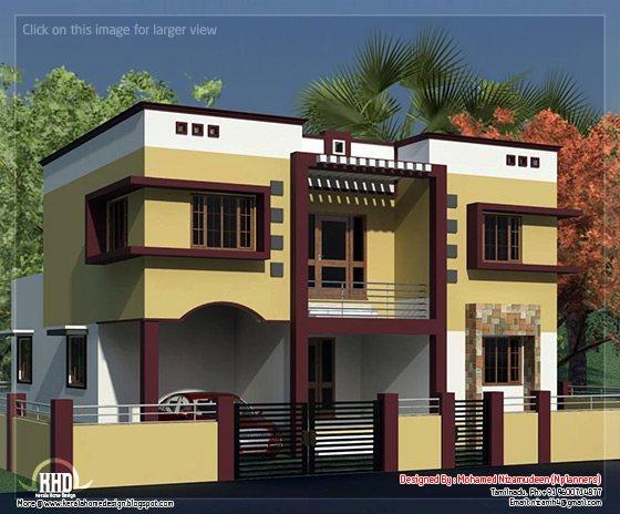 Tamilnadu  style minimalist 2135 sq feet house  design