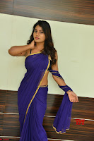 Actress Priya in Blue Saree and Sleevelss Choli at Javed Habib Salon launch ~  Exclusive Galleries 039.jpg