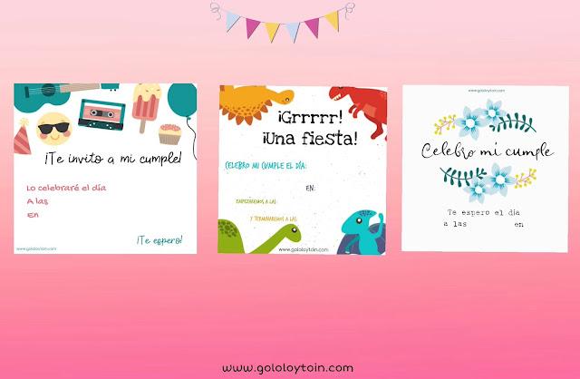 imprimir invitaciones cumpleaños infantiles