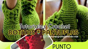 Botas y Pantuflas en Punto Cocodrilo para Adultos y Bebes | Tutoriales 😁