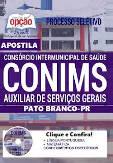 Apostila Concurso CONIMS Pato Branco Consórcio Intermunicipal de Saúde PR