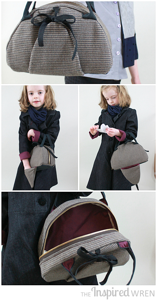 PERFECT BAG! Deerstalker Baglette, part of a mini female Sherlock cosplay sewn for Project Run & Play, Season 11 Week 2 | The Inspired Wren