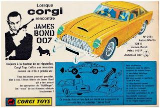 Pub Corgi, Lorsque Corgi rencontre James Bond 007