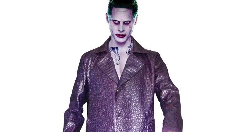 New Halloween Joker Leto Suicide Squad Jared Leto Crocodile Texture Leather Coat