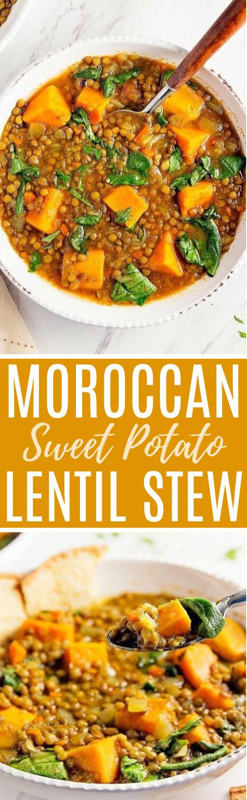 Moroccan Sweet Potato Lentil Stew #vegan #dinner #soup #stew #glutenfree
