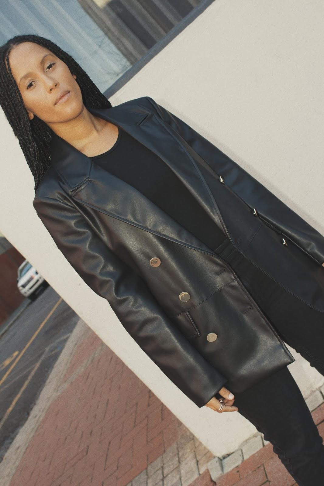 Liezel-Esquire-faux-leather-blazer