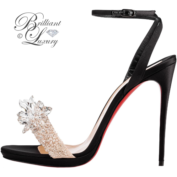 Brilliant Luxury ♦ Christian Louboutin Crystal Queen Sandal