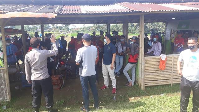 Langgar Prokes Lapak Lomba Burung Merpati di Bubarkan Satgas Covid-19 Kecamatan Mrebet