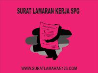 Contoh Surat Lamaran Kerja SPG