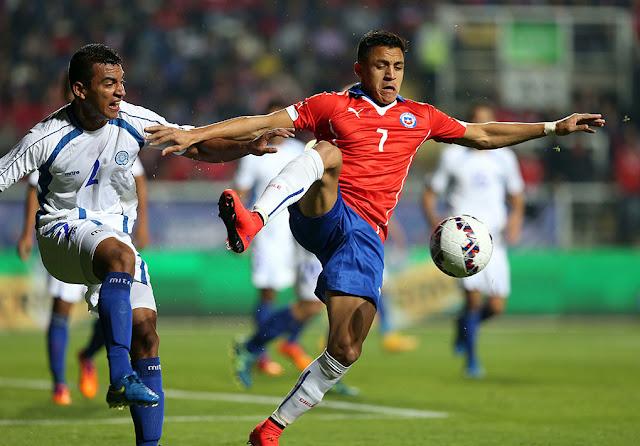 Chile y El Salvador en partido amistoso, 5 de junio de 2015