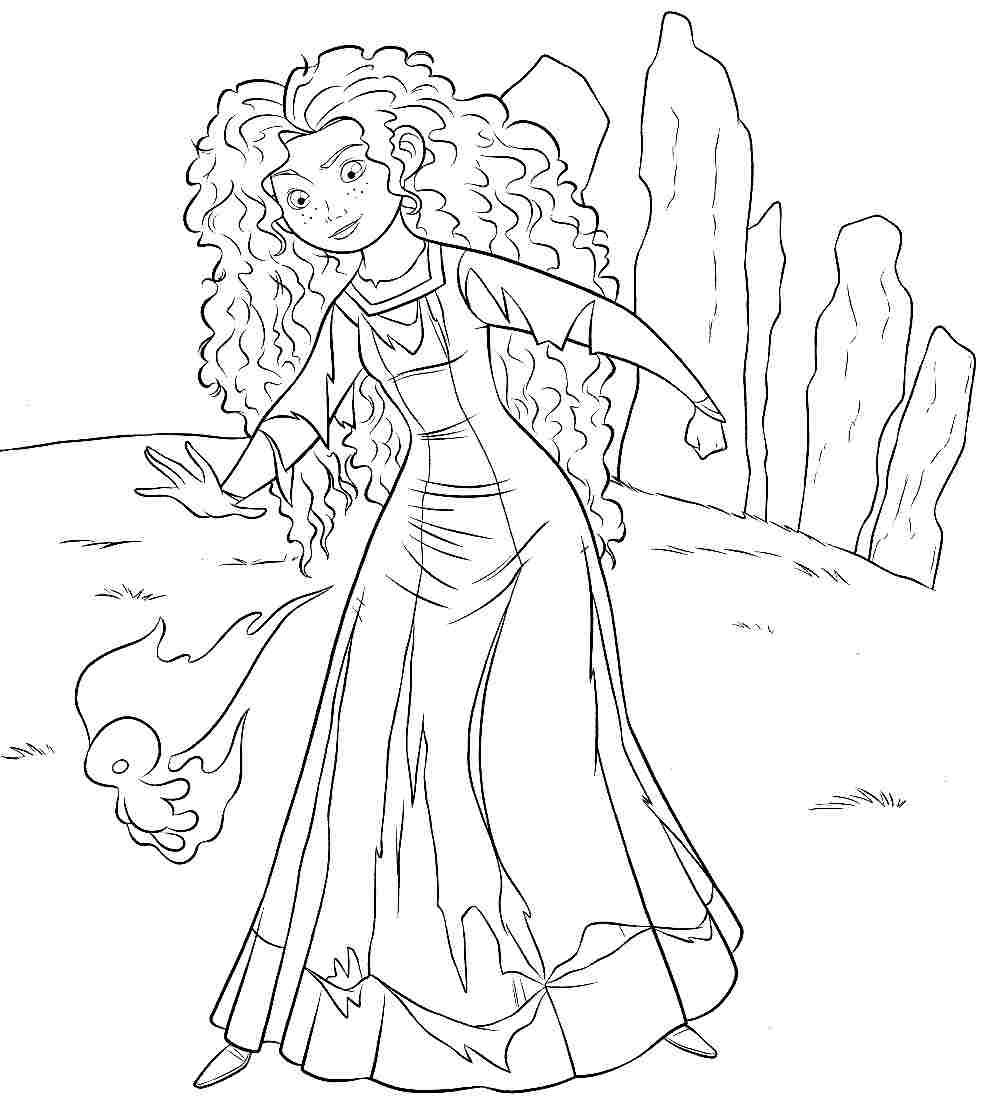 Disney Coloring Pages Brave : Free disney brave coloring pages printabel