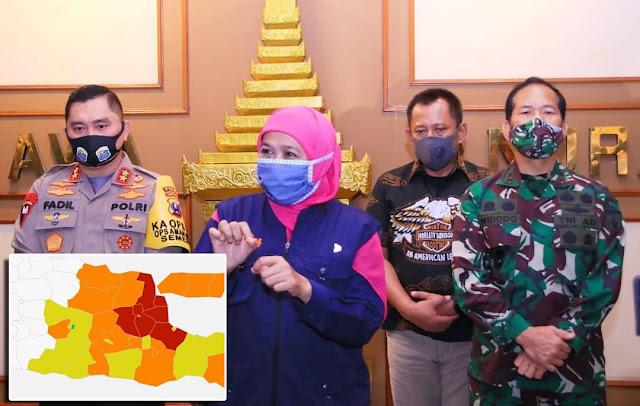 Madiun Jadi Zona Hijau Pertama Di Jatim, Gubernur Khofifah : Semoga Daerah Lainnya Menyusul