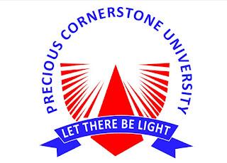 Precious Cornerstone university post-utme logo