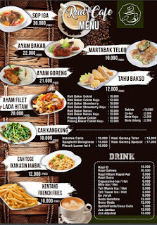 Contoh Desain Menu Makanan Format CDR Gratis