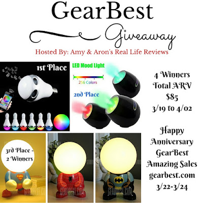 Enter the GearBest Anniversary Celebration Giveaway. Ends 4/2