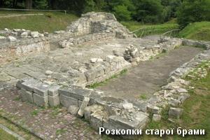 Давня брама монастиря в розкопках