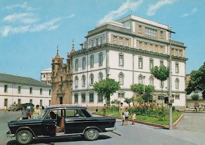 Lugo, tarjeta, postal, colegio, La Milagrosa, iglesia, San Froilán