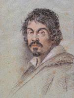 Retrato de Caravaggio por Ottavio Leoni