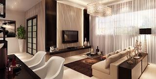 sala moderna y acogedora