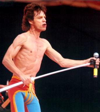 Foto de Mick Jagger cantando en el escenario
