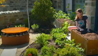 Corten steel water feature and planter