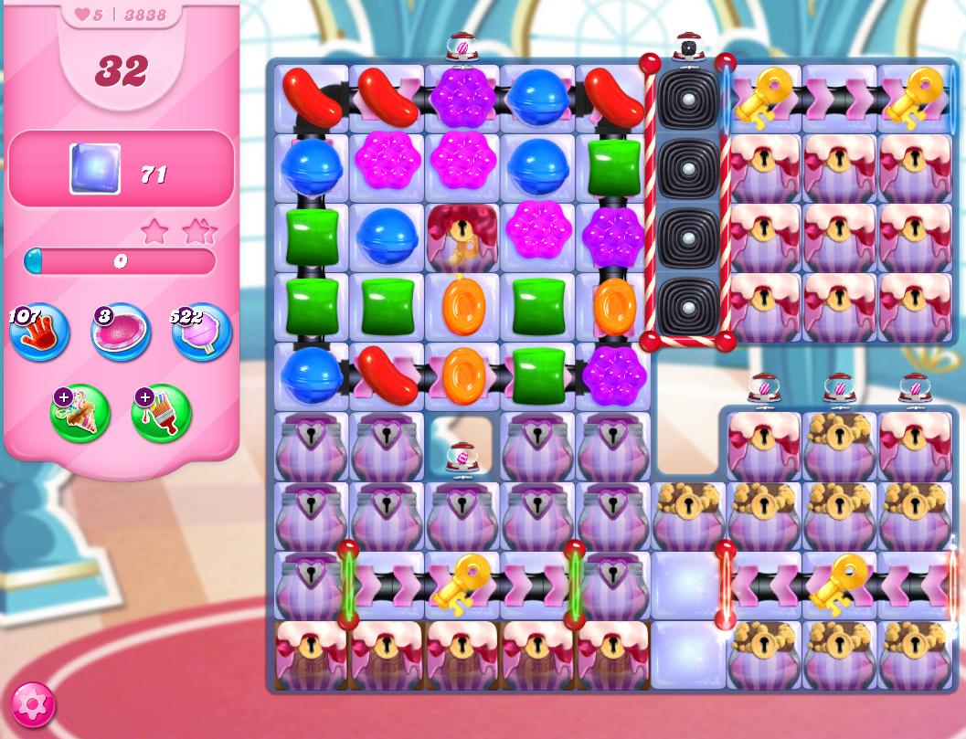Candy Crush Saga level 3838