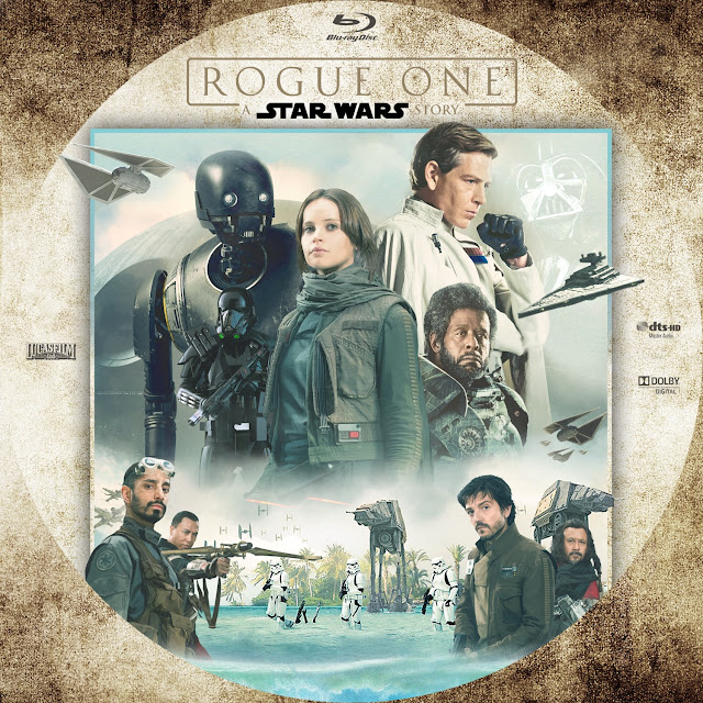 Rogue One A Star Wars Story Bluray Label
