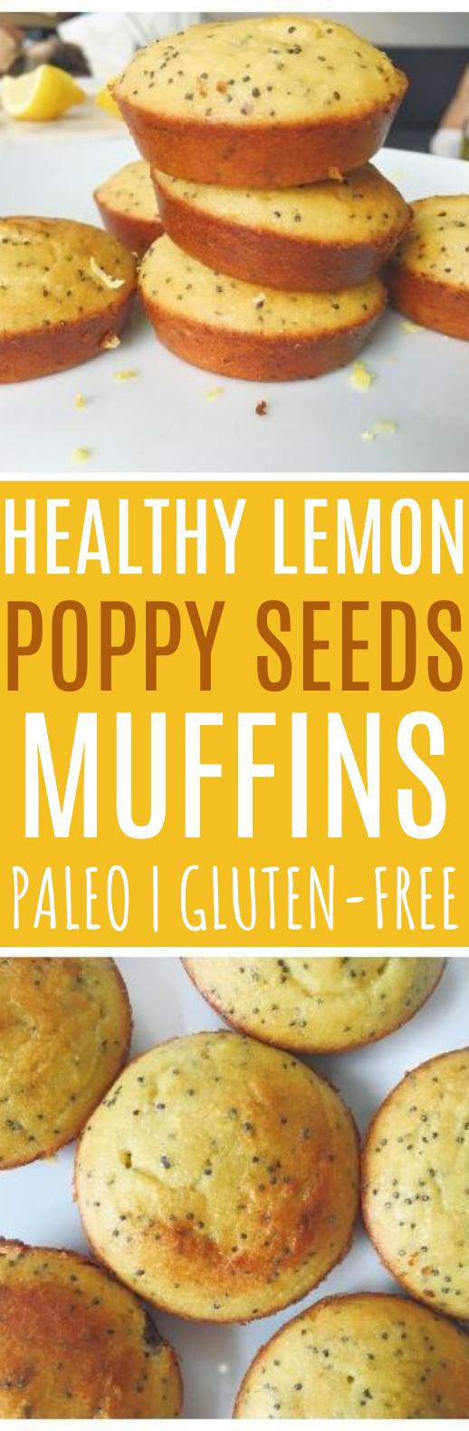 Healthy Lemon Poppy Seed Muffins #breakfast #healthy #paleo #muffins #diet