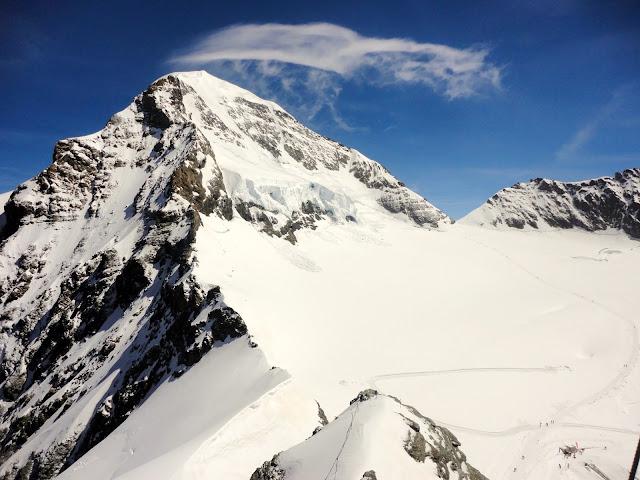 Snowy mountains in Jungfrau, Switzerland