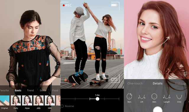 Download the amazing B612 app on Android, iPhone and the most beautiful selfie
