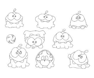 Cut the rope coloring pages ~ #6 Cut The Rope Coloring Page
