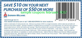 Sherwin Williams coupons february