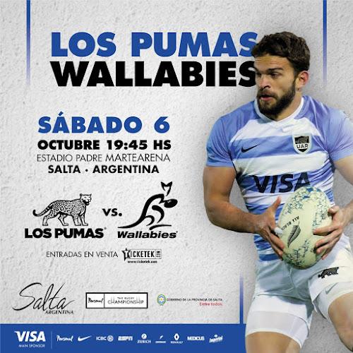 Los Pumas llegan a Salta para el partido ante Los Wallabies #PersonalRugbyChampionship