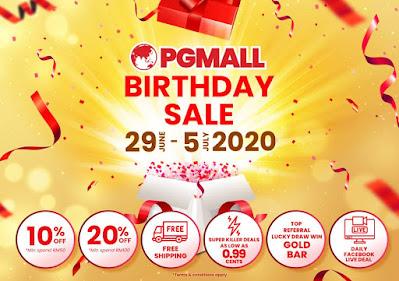 Birthday sale PGMALL