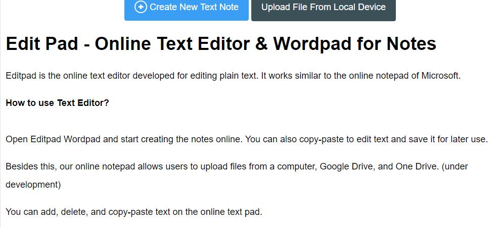 editpad word editor for better writing