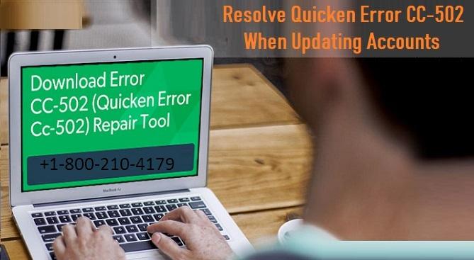 How to fix Quicken Error CC-502 once change accounts
