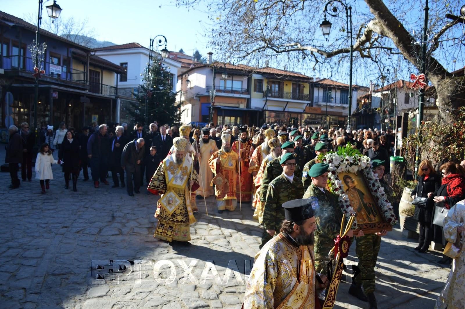 Με ευλάβεια και μεγαλοπρέπεια ο εορτασμός του Πολιούχου Αγίου Στεφάνου στην Αρναία (ΒIΝΤΕΟ)