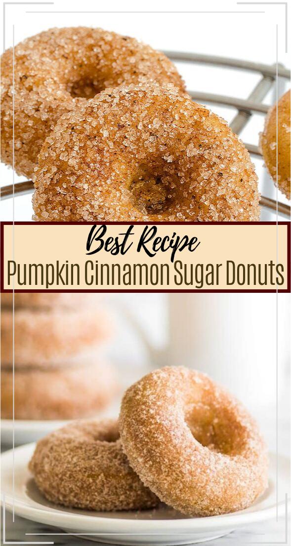 Pumpkin Cinnamon Sugar Donuts #healthyfood #dietketo #breakfast #food