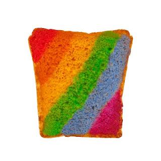 FUN KID PROJECT:  Make rainbow toast!  (Art kids can eat!)
