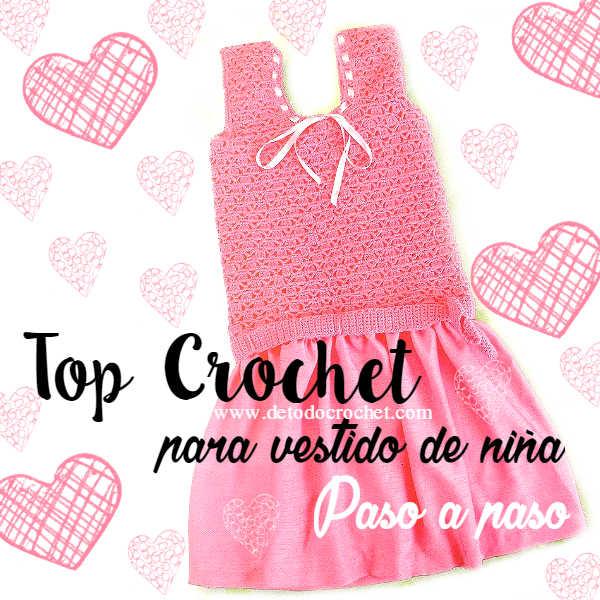 vestido con top en crochet paso a paso con moldes y patrones