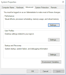 Pilih Advanced System Setting