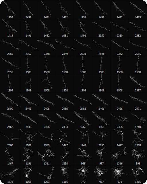 80 Brushes Tạo Sấm Sét