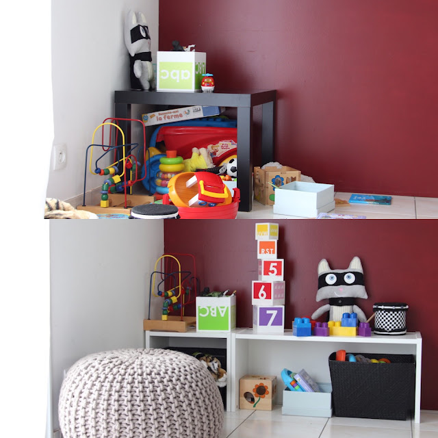 girlystan diy ikea rangement des jouets de b b dans le salon. Black Bedroom Furniture Sets. Home Design Ideas